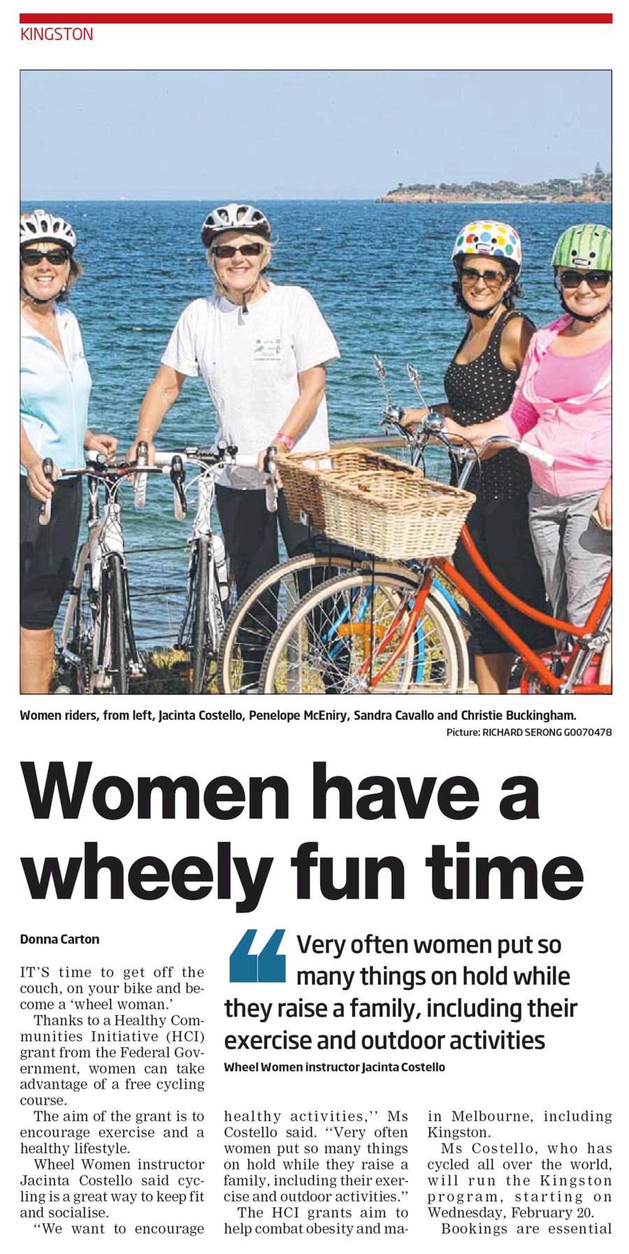Women Have A Wheely Time