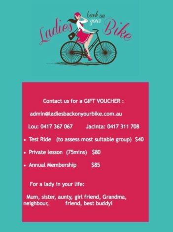 Gift your Mum, daughter, aunt or friend: Voucher for cycling with LBOYB