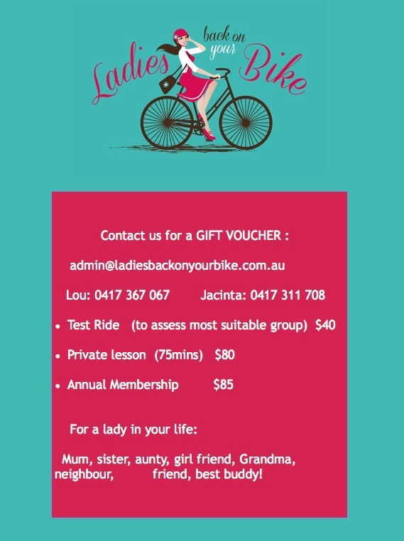 Voucher: Mum can learn to cycle