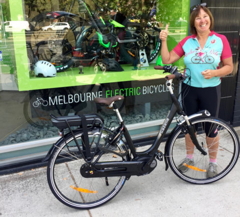 Now we have an electric bike in our stable for you to borrow!