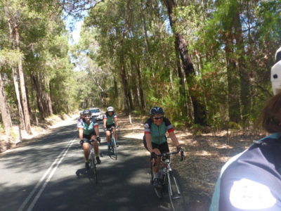 Enjoying the cycling in Margaret River region