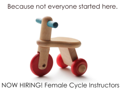 Recruiting for cycle instructors