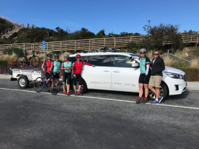 Ladies thoroughly enjoyed our cycle in Tasmania