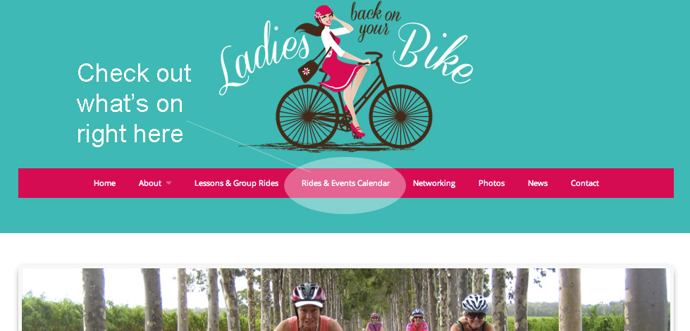 rides and events calendar